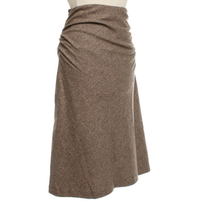 Gunex skirt in brown with pattern