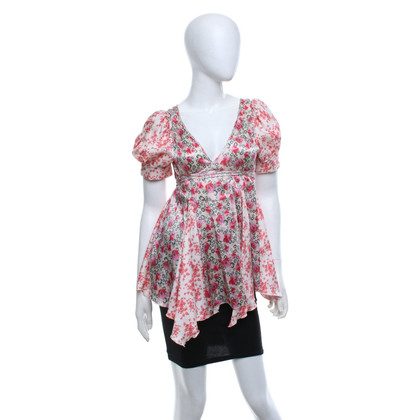 Strenesse Silk blouse with floral print