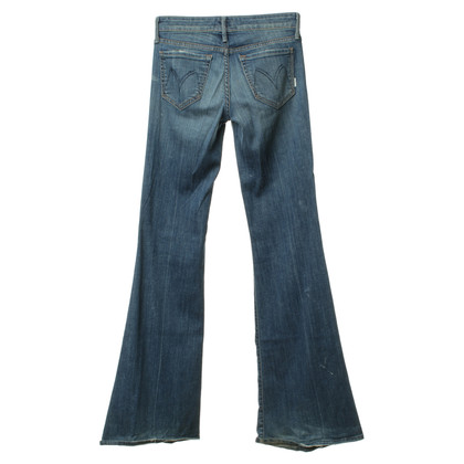 Mother Jeans bootcut in blu