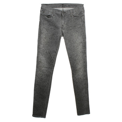 7 For All Mankind Jeans mit Reptilprint