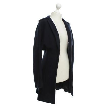 Yohji Yamamoto Coat in dark blue