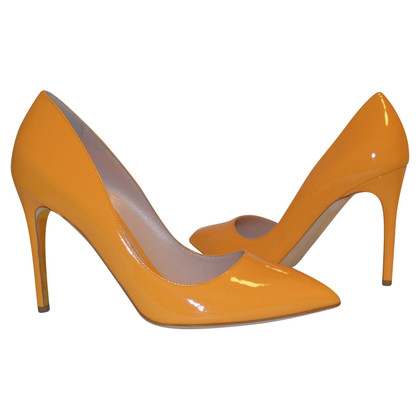 Rupert Sanderson Malory Honeydue Leather Pumps High Heel