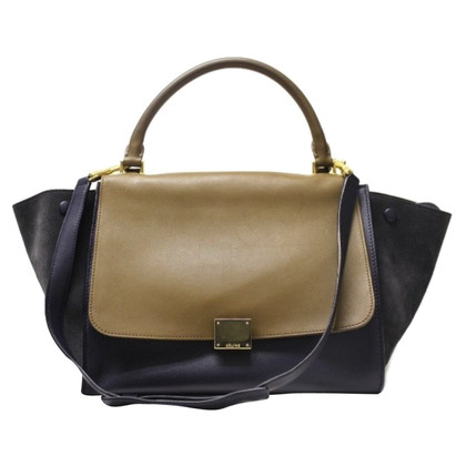 "Céline ""Trapeziumvormige Bag"" in bicolor"