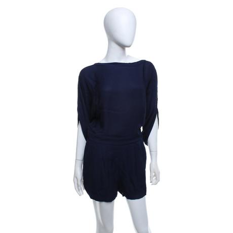 Diane von Furstenberg Jumpsuit aus Seide Blau