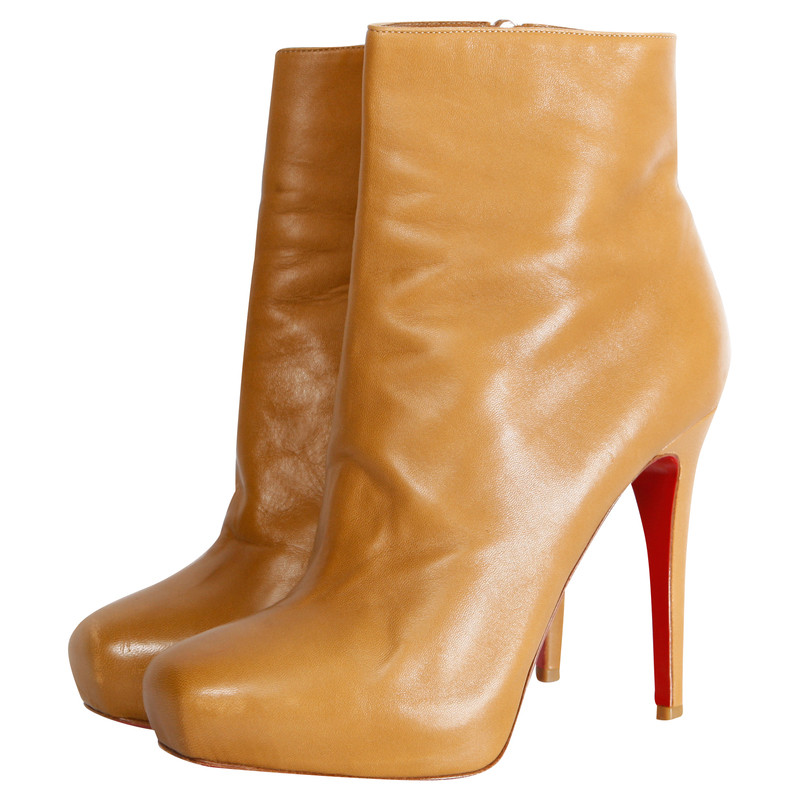 Christian Louboutin camel leather bootie