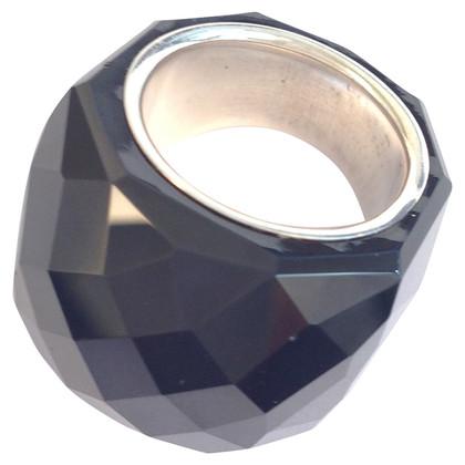 Daniel Swarovski Black Crystal ring van Daniel Swarovski