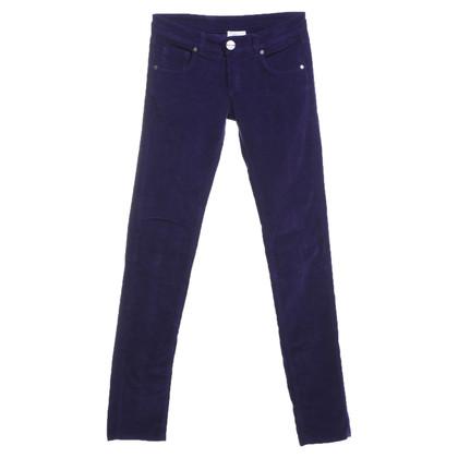 Pinko pantaloni di velluto in viola