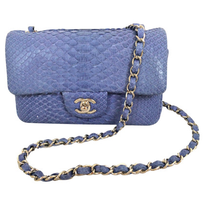 Chanel Chanel Blue Python Timeless Bag