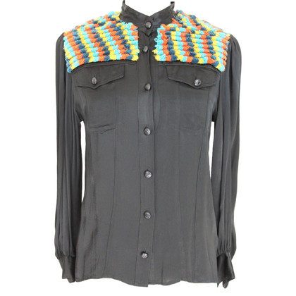 Moschino Moschino vintage black wool shirt