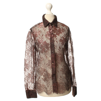 Other Designer Lace blouse with fancy yarn