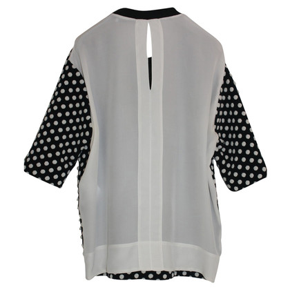 Sandro top with dot pattern