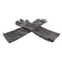 Pinko Leather Gloves in Aubergine