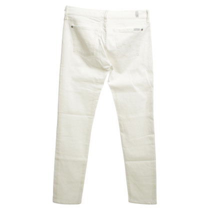 7 For All Mankind Jeans cream white