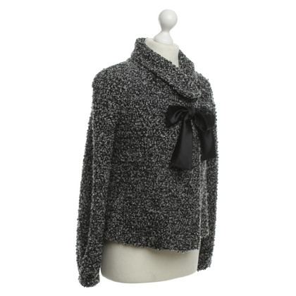 Armani Bouclé Blazer in black and white