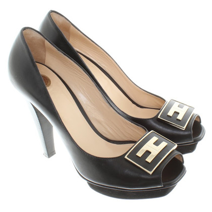 Elisabetta Franchi Peeptoes in black