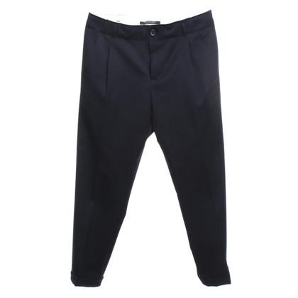 Maison Scotch pantaloni pieghettati in blu scuro