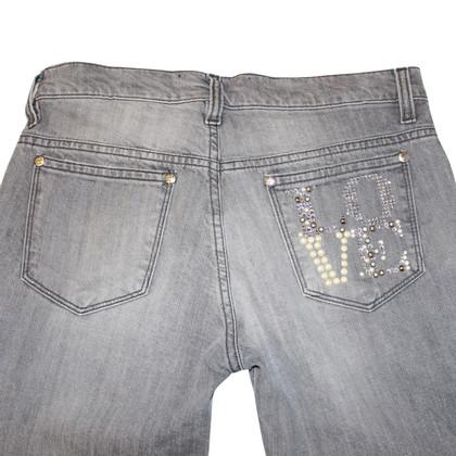 Moschino Love Jeans mit Schmuckstein-Besatz