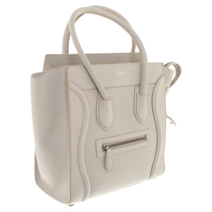 Céline Micro Luggage Bag in Beige