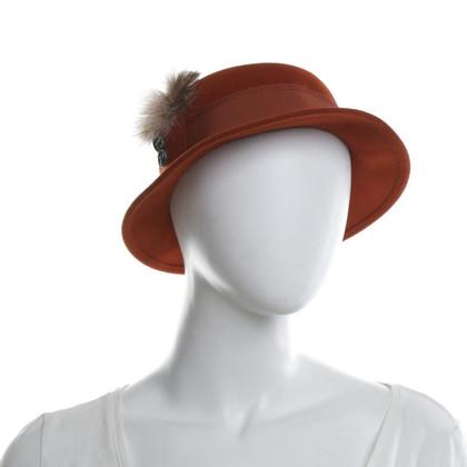 Hermès Hoed met veren decor