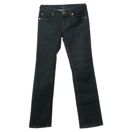 Prada Bootcut jeans in donkerblauw