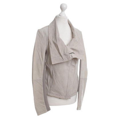 All Saints Lederjacke in Beige