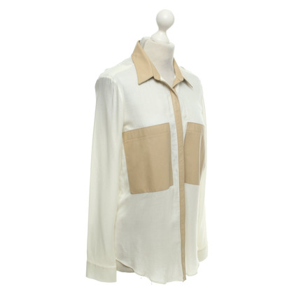Helmut Lang Blouse with leather details