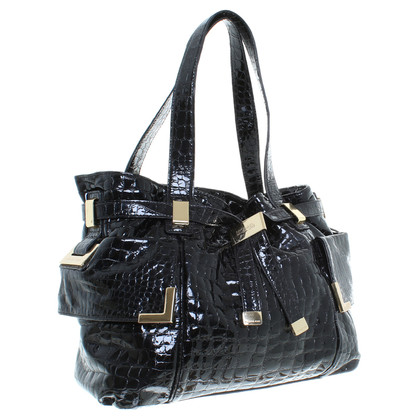 Michael Kors Reptile-embossed patent leather purse