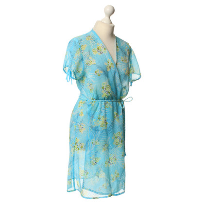 Oscar de la Renta Wrap dress with floral print