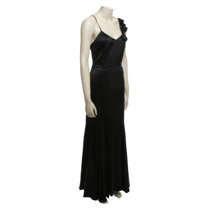 John Galliano Satin dress in black