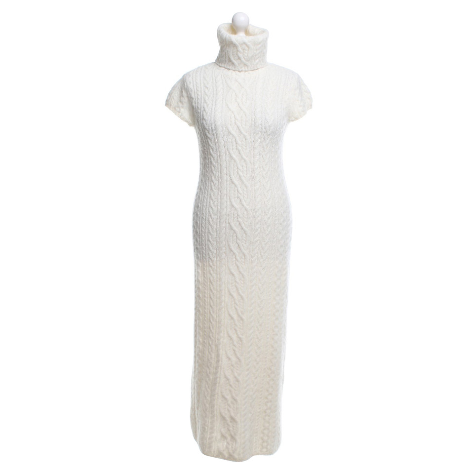 Polo Ralph Lauren Knitted dress in cream white - Buy Second hand ...
