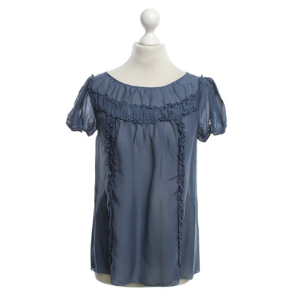 Marc by Marc Jacobs Silk top with frills