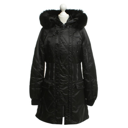 Christian Dior Parka con bordo in pelliccia