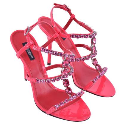 Dolce & Gabbana Sandalen met edelsteen trimmen