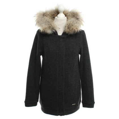Woolrich Knitted coat in dark gray