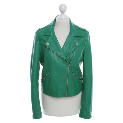 Claudie Pierlot Leather jacket in biker style