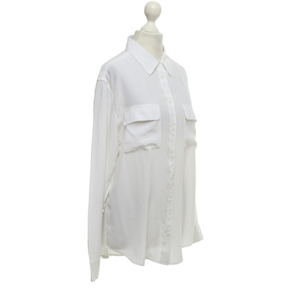 Equipment Silk blouse in white