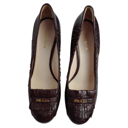 Prada Fringe leather pumps