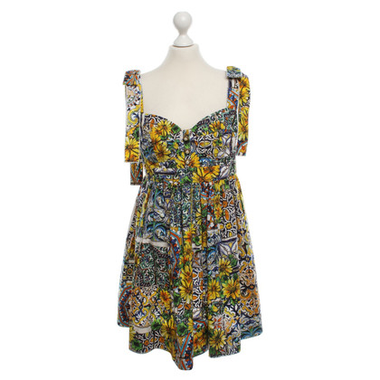 Dolce & Gabbana Bustier dress with floral print