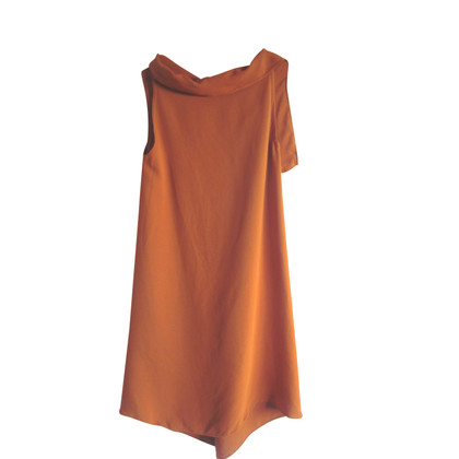 Max Mara Seidenkleid in Orange