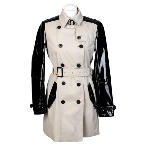 Burberry Trenchcoat mit Lackleder - Second Hand Burberry Trenchcoat ... 1a60aff50c