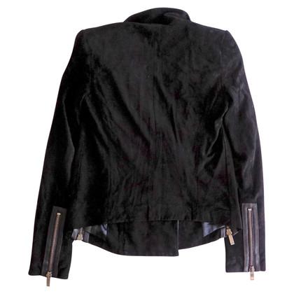 Barbara Bui Suede biker jacket