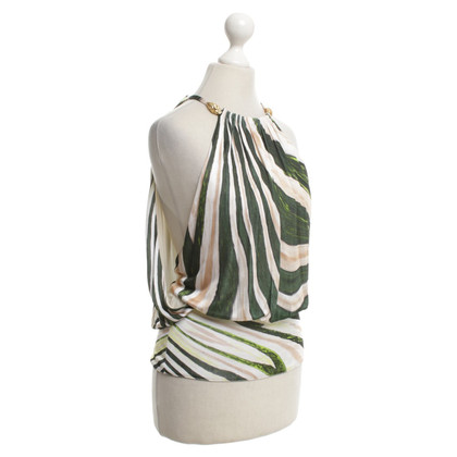 Roberto Cavalli top with print in green