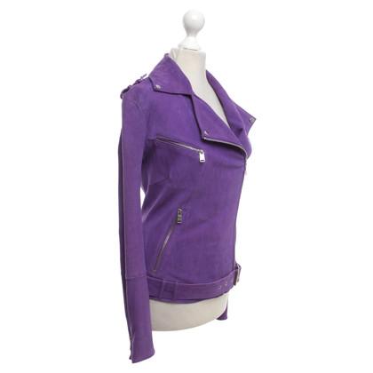 Jitrois Leather jacket in purple