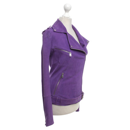 Jitrois Veste en cuir en violet