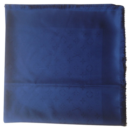 Louis Vuitton Scialle Monogram Blue Notte in seta
