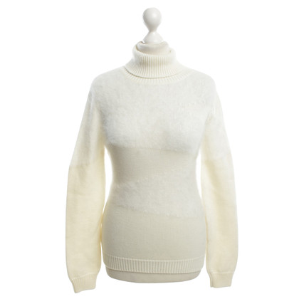 Versace Roll collar sweater in white