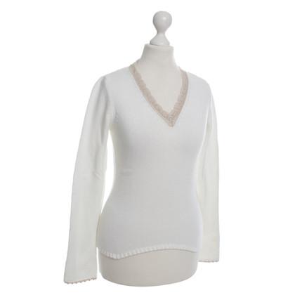 Schumacher Knit pullover in white