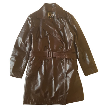 Ferre Leather coat in brown