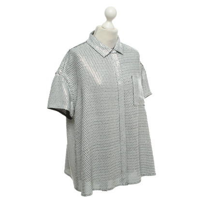 Acne Silk blouse with sequin trim