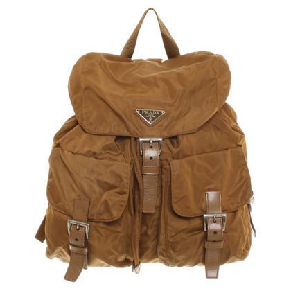 Prada Cognac backpack